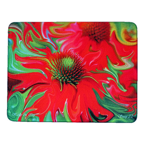 Abstract Red Coneflower Cutting Board by Suzy 2.0
