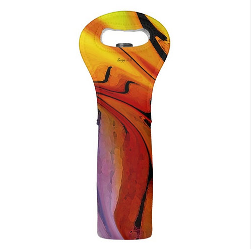 multi-colored abstract wine tote by Suzy 2.0