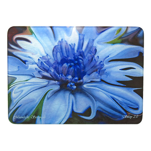Abstract Blue Daisy Cutting Board by Suzy 2.0