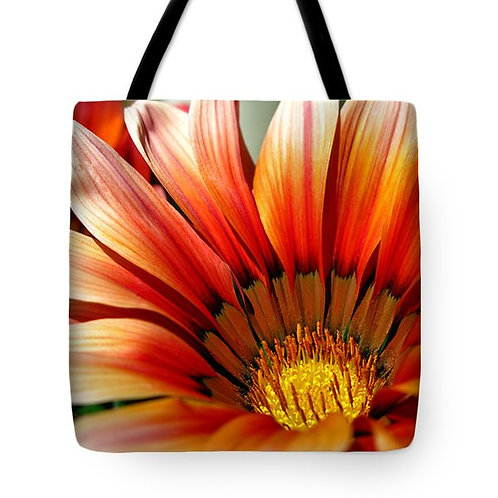 orange African Daisy tote bag by Suzy 2.0