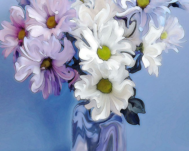 """Blue Danube"" Digital Painting"