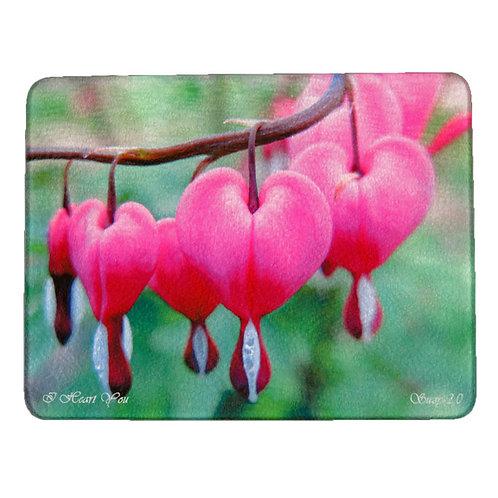 Pink Bleeding Heart Cutting Board by Suzy 2.0