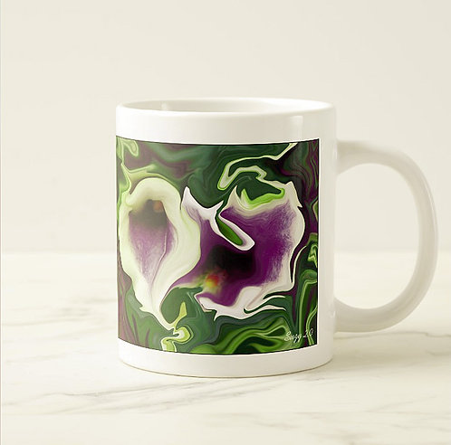 Suzy 2.0 Twisted Sisters Abstract Calla Lily Mug Right