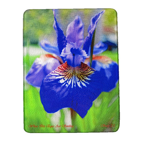 Purple Siberian Iris Cutting Board by Suzy 2.0