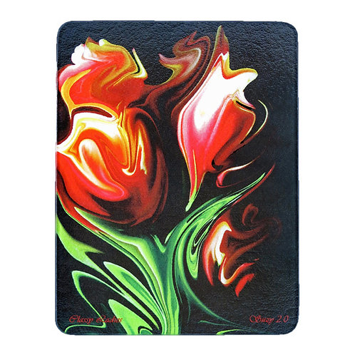 Abstract Red Tulip Cutting Board by Suzy 2.0