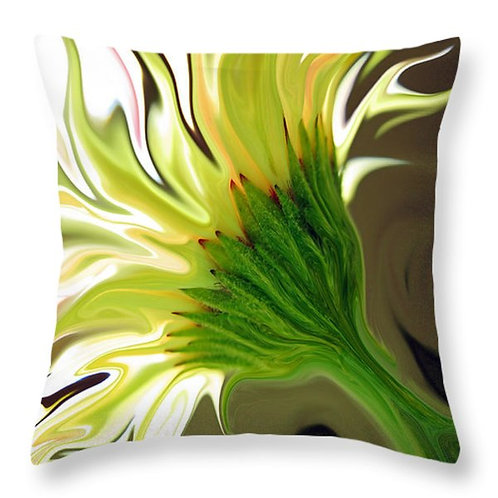 Abstract yellow Gerbera daisy pillow by Suzy 2.0