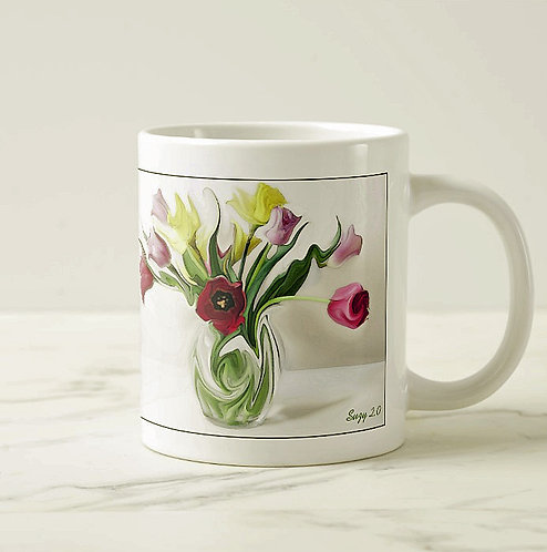 Suzy 2.0 Viennese Waltz Abstract Tulip Mug Right