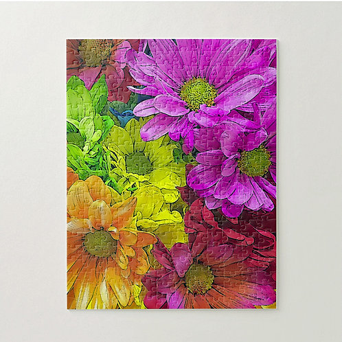 Abstract multi-colored daisy puzzle by Suzy 2.0