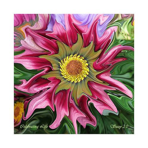 Celebrating Life Floral Tile