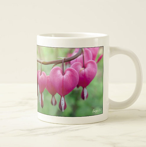 Suzy 2.0 I Heart You Flower Bleeding Hearts Mug Right