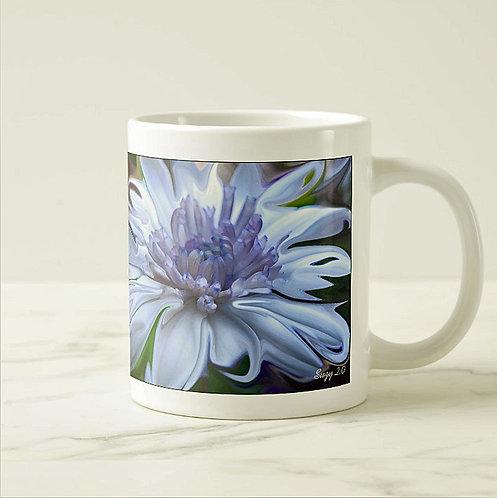 Suzy 2.0 Moonlight Serenade Abstract Blue Daisy Mug Right