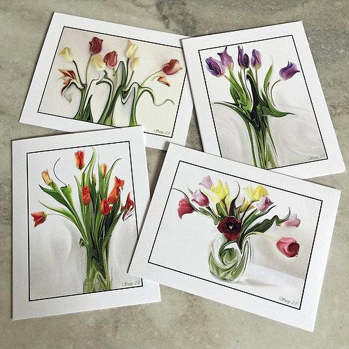Dancing Botanicals #2 - Flower Note Cards
