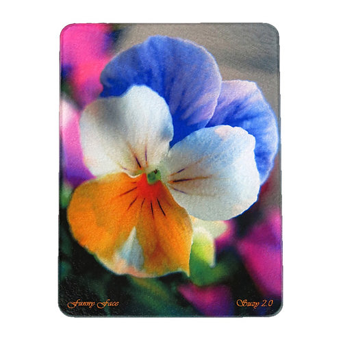 Multi-Colored Pansy Cutting Board by Suzy 2.0