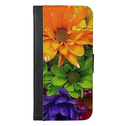 Blooming Kaleidoscope Wallet Phone Case
