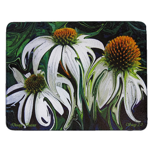 Abstract White Coneflower Cutting Board by Suzy 2.0