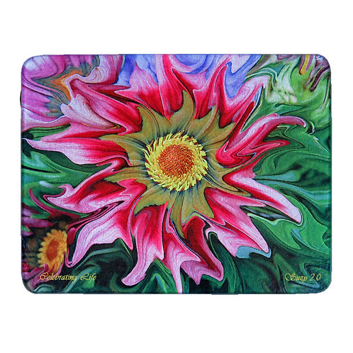 Abstract Pink African Daisy Cutting Board by Suzy 2.0