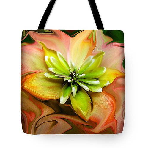 abstract orange and green succulent tote bag by Suzy 2.0