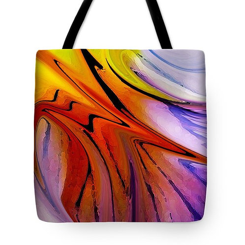 multi-colored abstract tote bag by Suzy 2.0