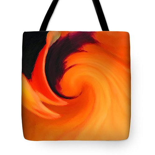 abstract orange and black tote bag by Suzy 2.0