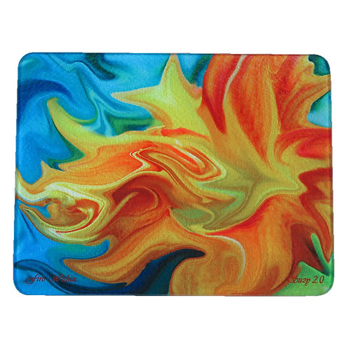 Abstract Orange Day Lily Cutting Board by Suzy 2.0