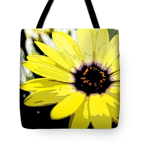 abstract yellow African daisy tote bag by Suzy 2.0