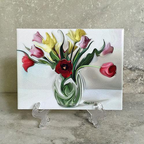 Viennese Waltz Floral Tile
