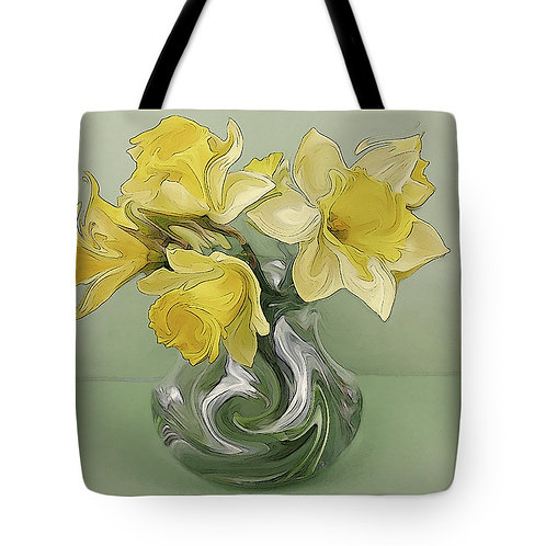 Abstract yellow daffodil tote by Suzy 2.0