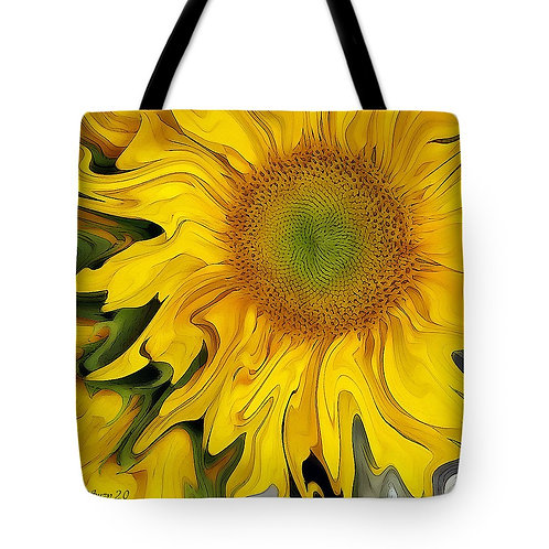 abstract yellow sunflower tote bag by Suzy 2.0