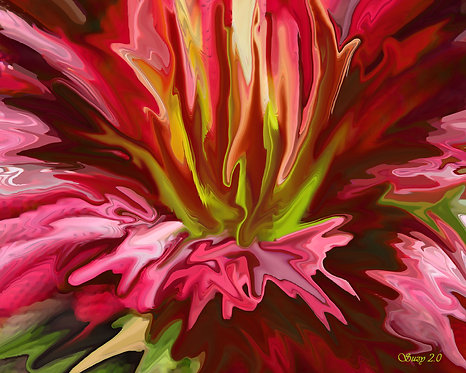 Abstract red lily fine art print by Suzy 2.0