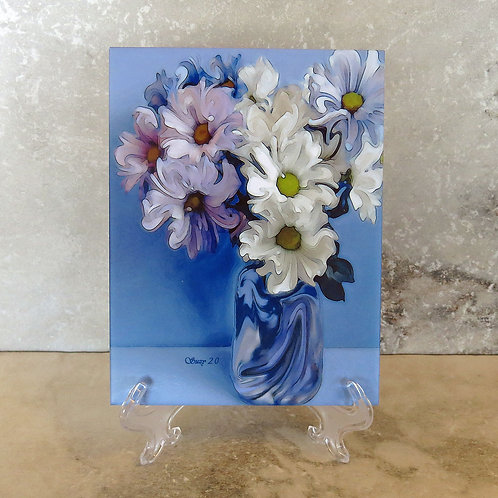 Blue Danube Floral Tile