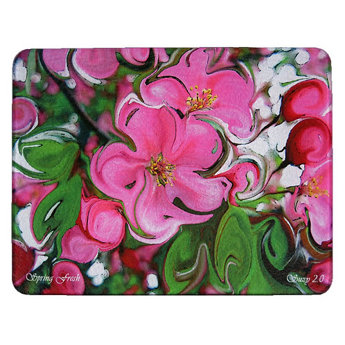 Abstract Pink Apple Blossom Cutting Board by Suzy 2.0