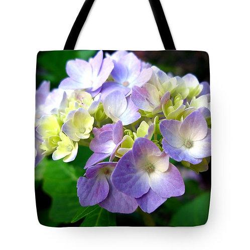 purple Hydrangea flower tote bag by Suzy 2.0