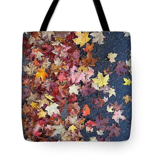 abstract fall foliage tote bag by Suzy 2.0