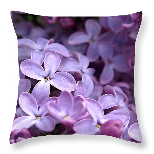 Purple lilac pillow by Suzy 2.0