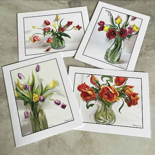 Dancing Botanicas #1 - Flower Note Cards