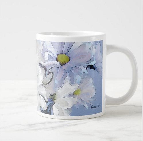 Suzy 2.0 Blue Danube Abstract Daisy Mug Right
