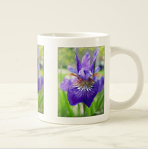 Suzy 2.0 When Iris Eyes Are Smiling Purple Iris Mug Right