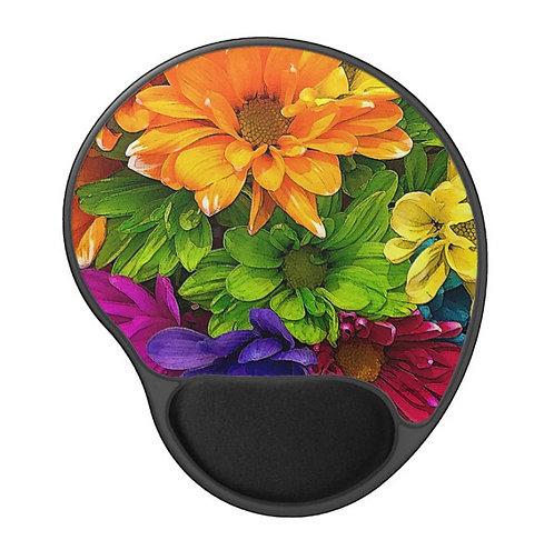 Blooming Kaleidoscope - Flower Gel Mouse Pad