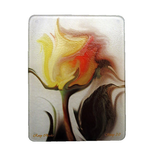 Abstract Yellow Rose Cutting Board by Suzy 2.0