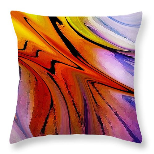 Mulit-colored abstract pillow by Suzy 2.0