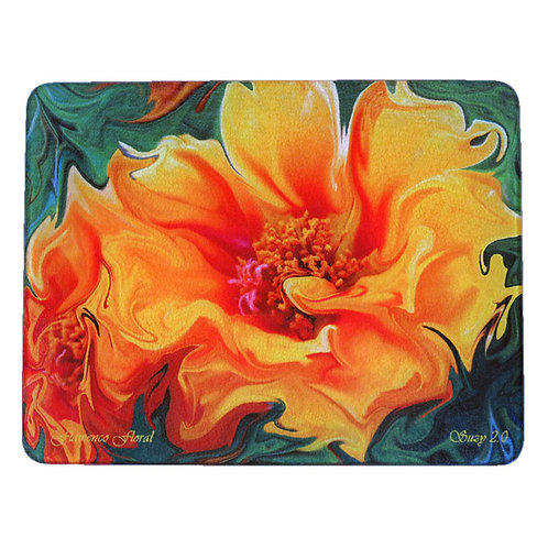 Abstract Orange Moss Rose Cutting Board by Suzy 2.0