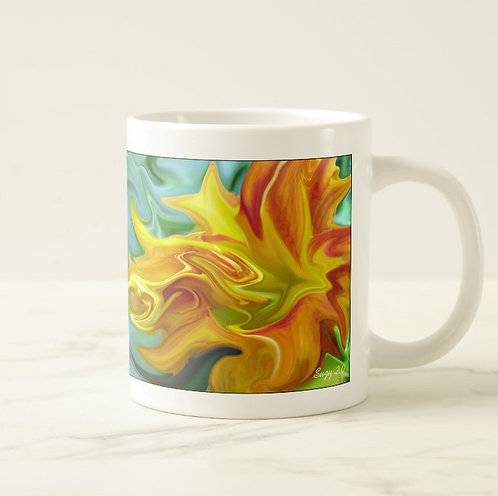 Suzy 2.0 Fire Within Abstract Day Lily Mug Right