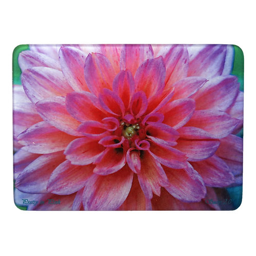 Pink Dahlia Cutting Board by Suzy 2.0