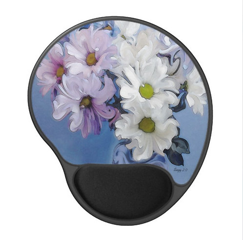 Blue Danube - Flower Gel Mouse Pad