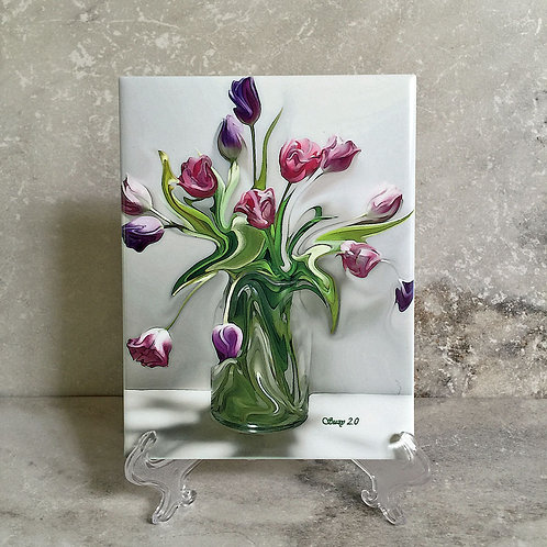 Free Style Floral Tile