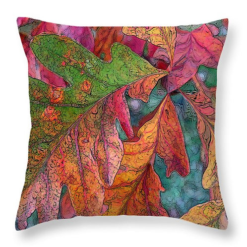 Abstract fall leaf pillow by Suzy 2.0