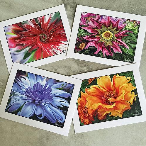 Enhanced Floral #1 - Flower Note Cards