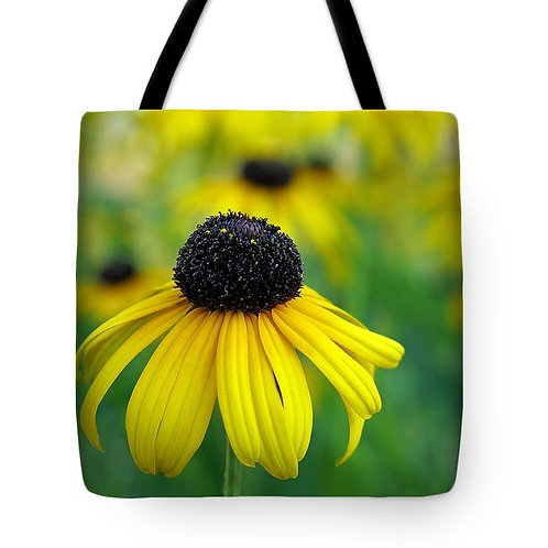 Yellow black eyed susan tote bag by Suzy 2.0