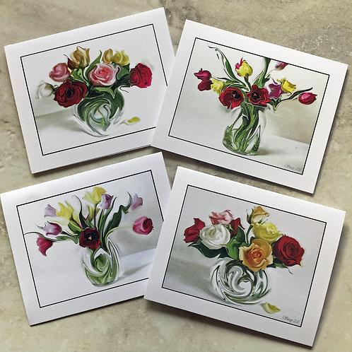 Dancing Botanicals #3 - Flower Note Cards