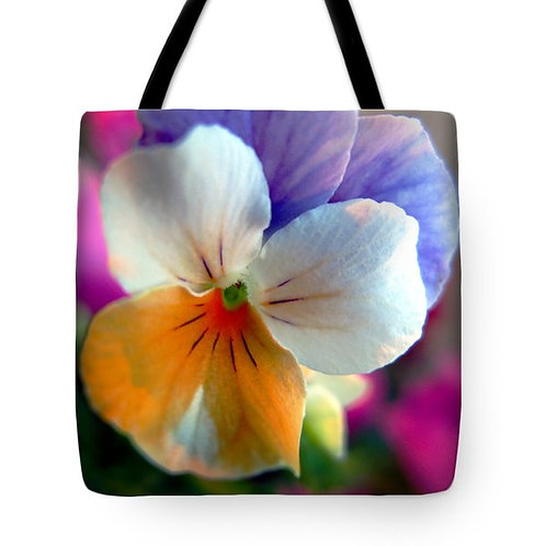 multi-colored pansy tote bag by Suzy 2.0